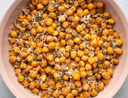 Roasted Chickpeas With Parmesan Cheese