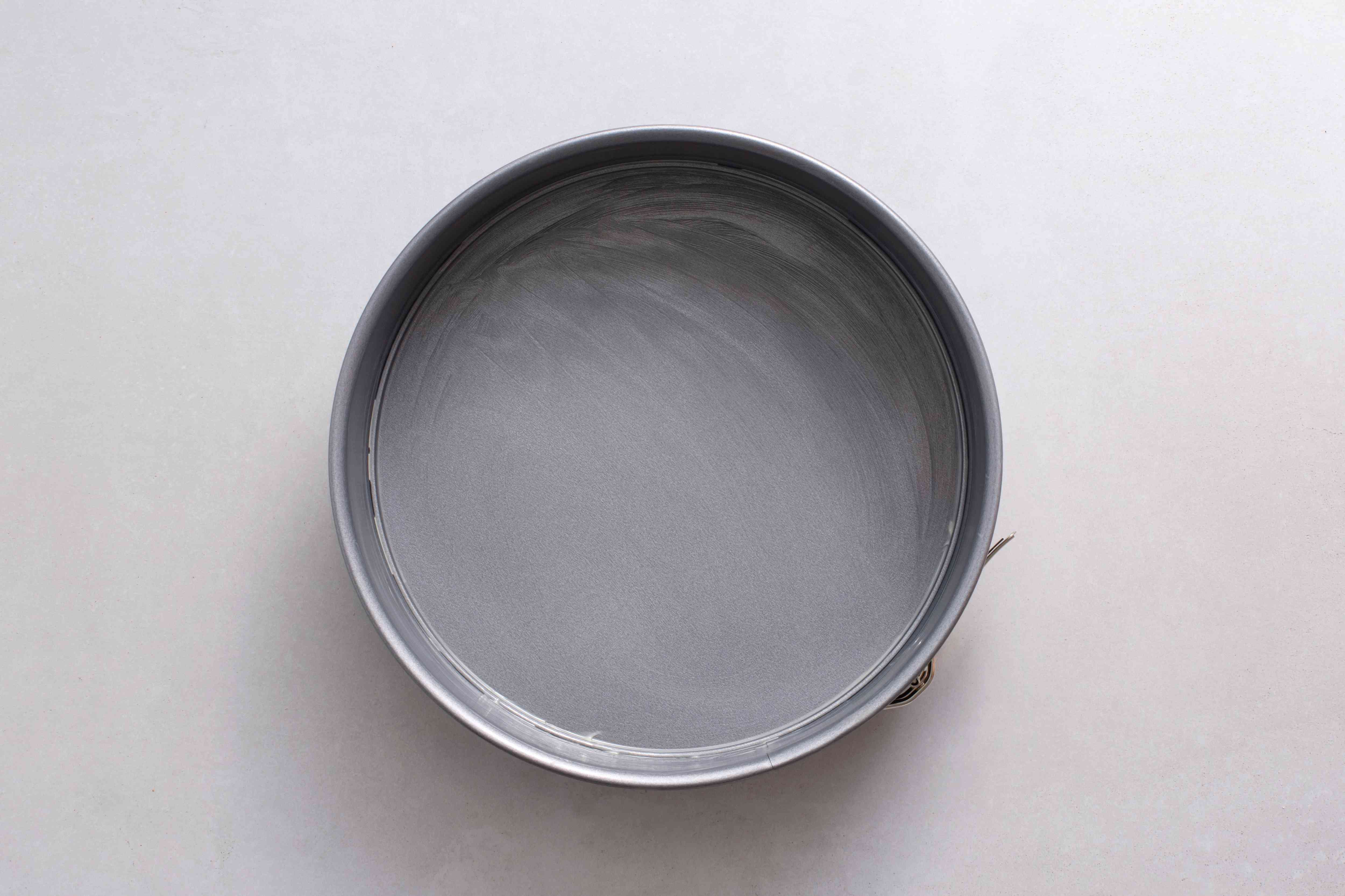 greased springform pan