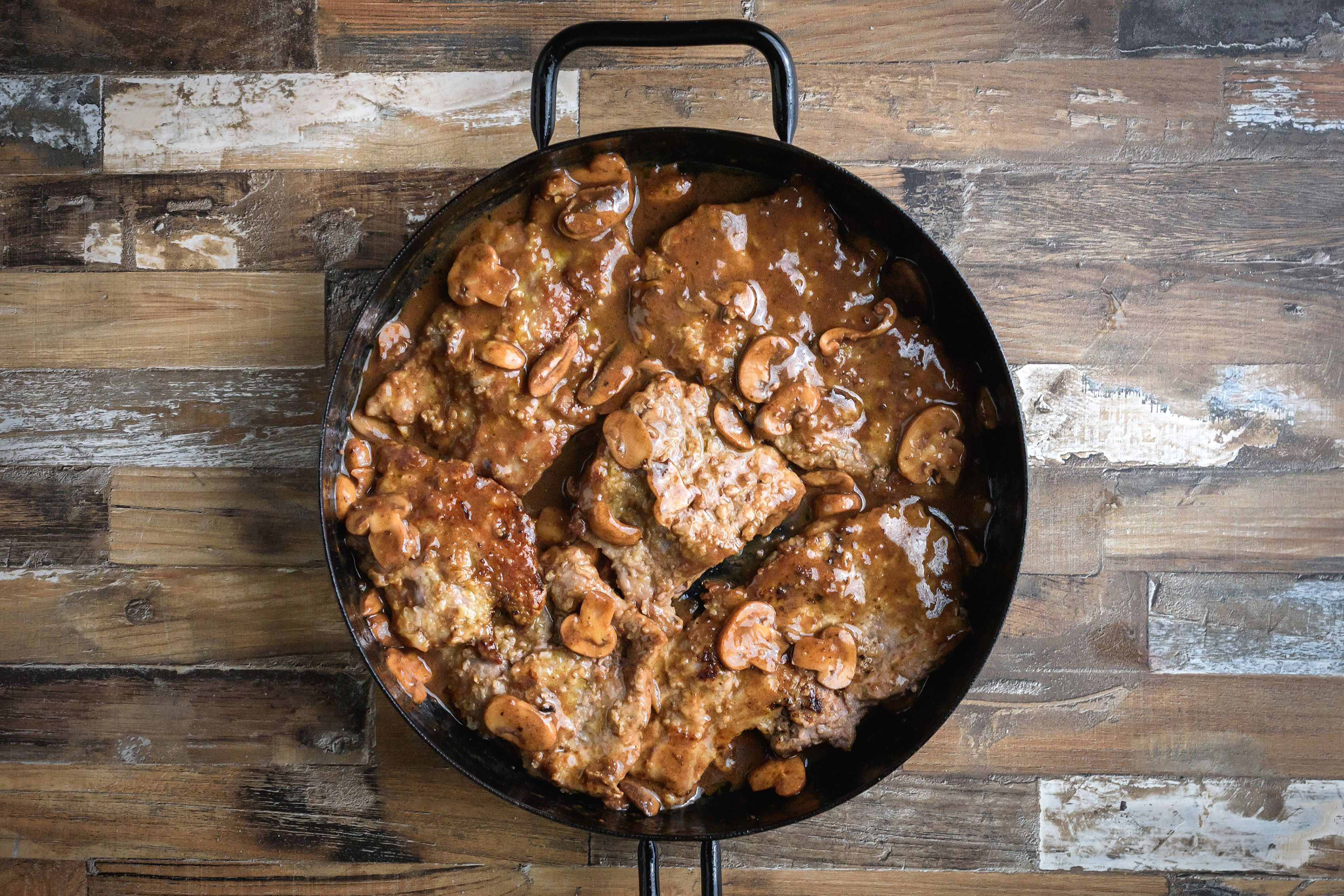 return veal to pan