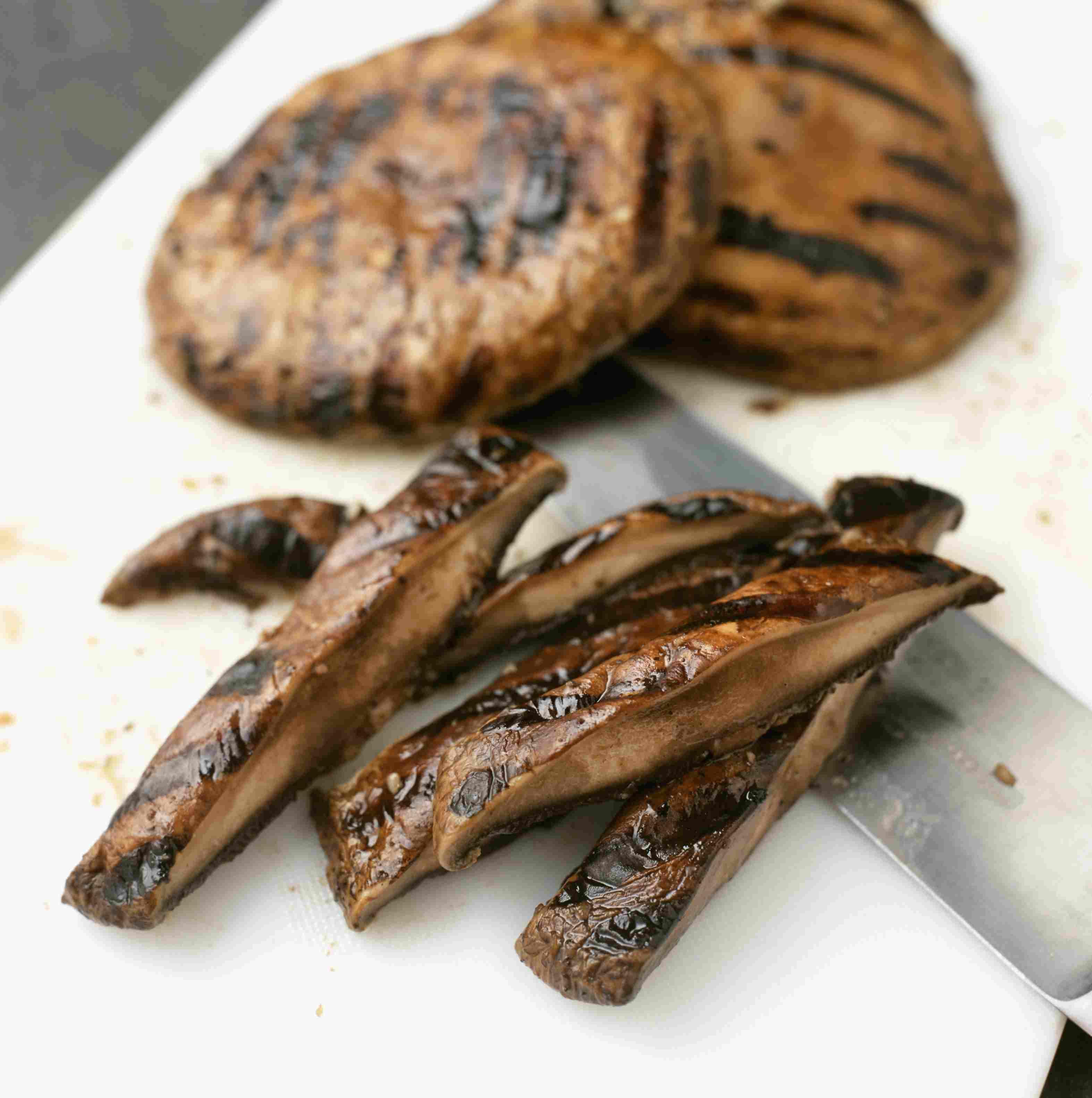 Grilled Portobello mushroom caps