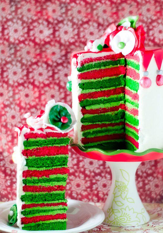 Whimsical Eggnog Christmas Cake from Bakingdom