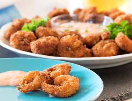Homemade Popcorn Shrimp With Sweet and Spicy Dipping Sauce