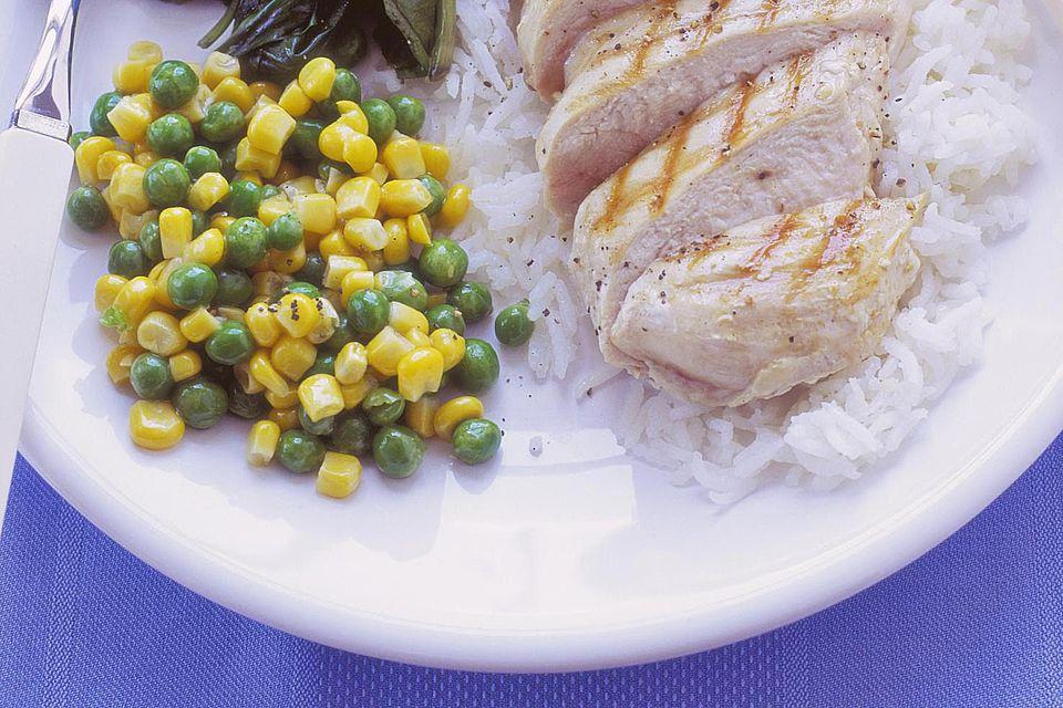 Guisantes y maíz