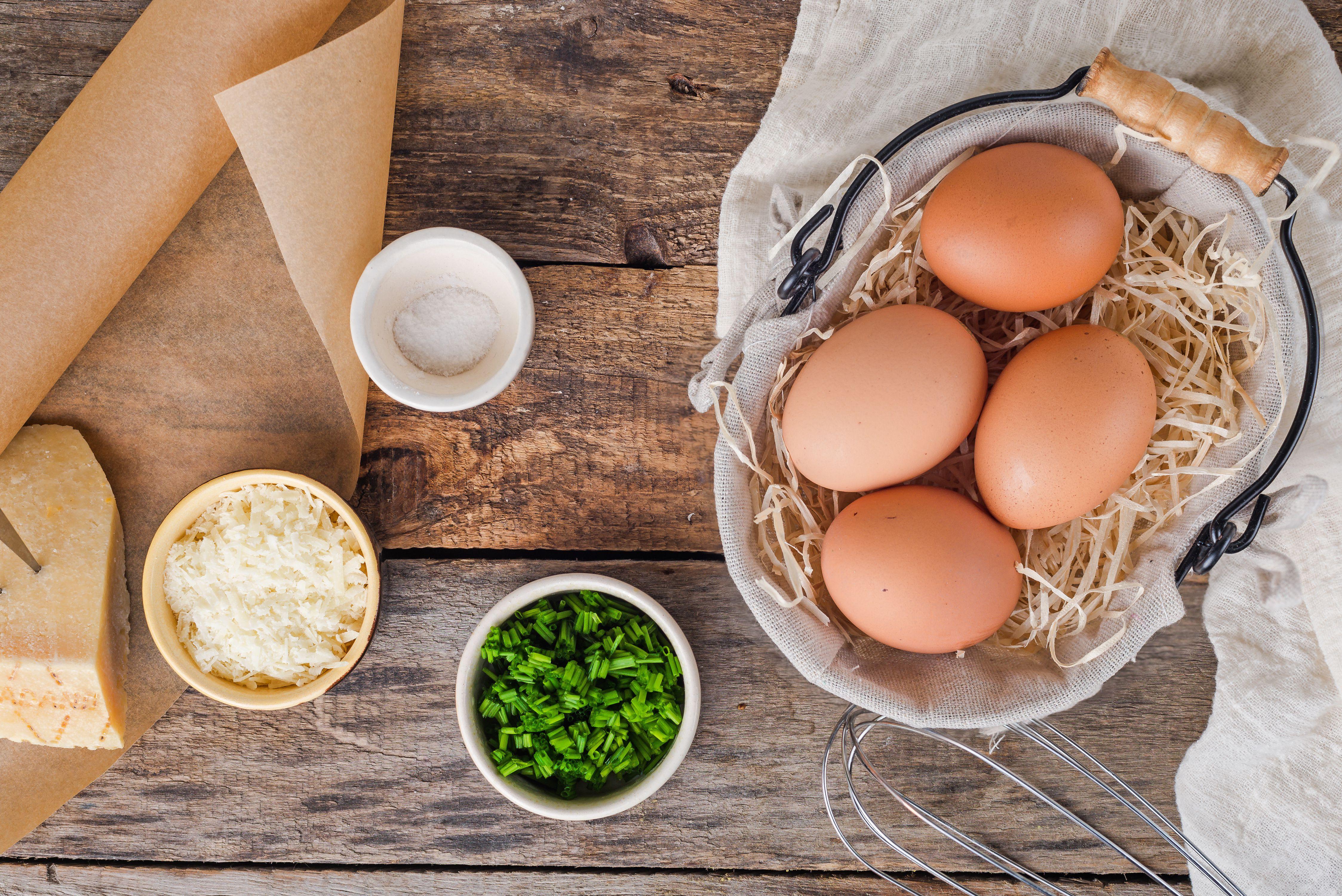 Ingredients for cloud eggs