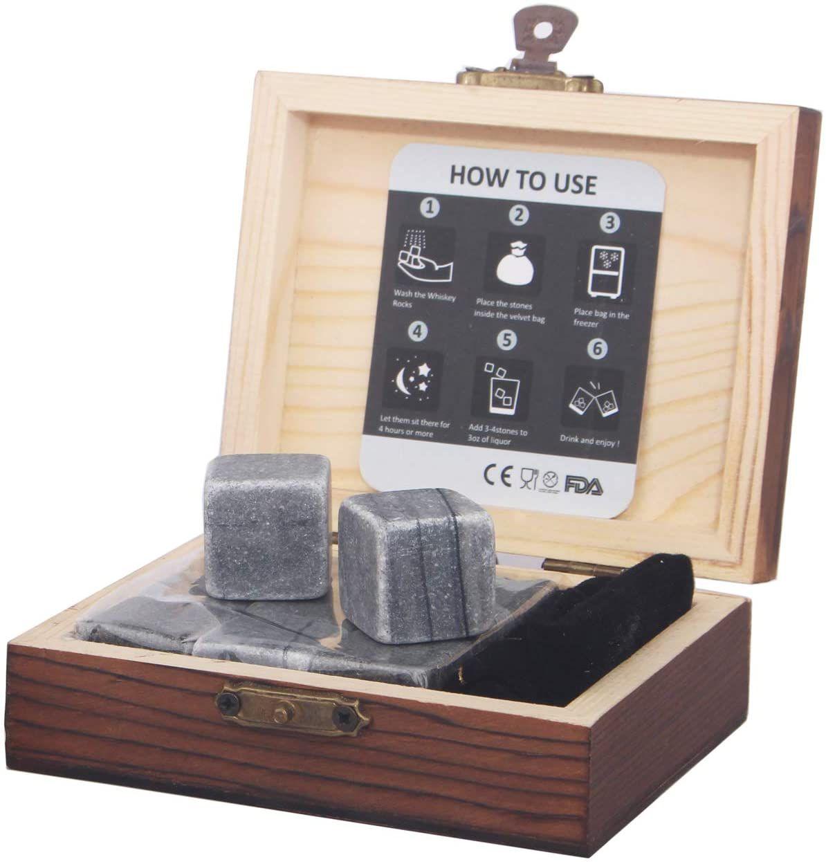 Barleo Whiskey Stones Gift Set