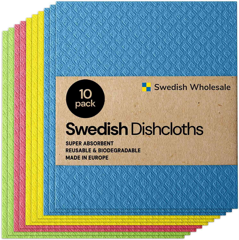 Swedish Wholesale Dishcloth Cellulose Sponge Cloths