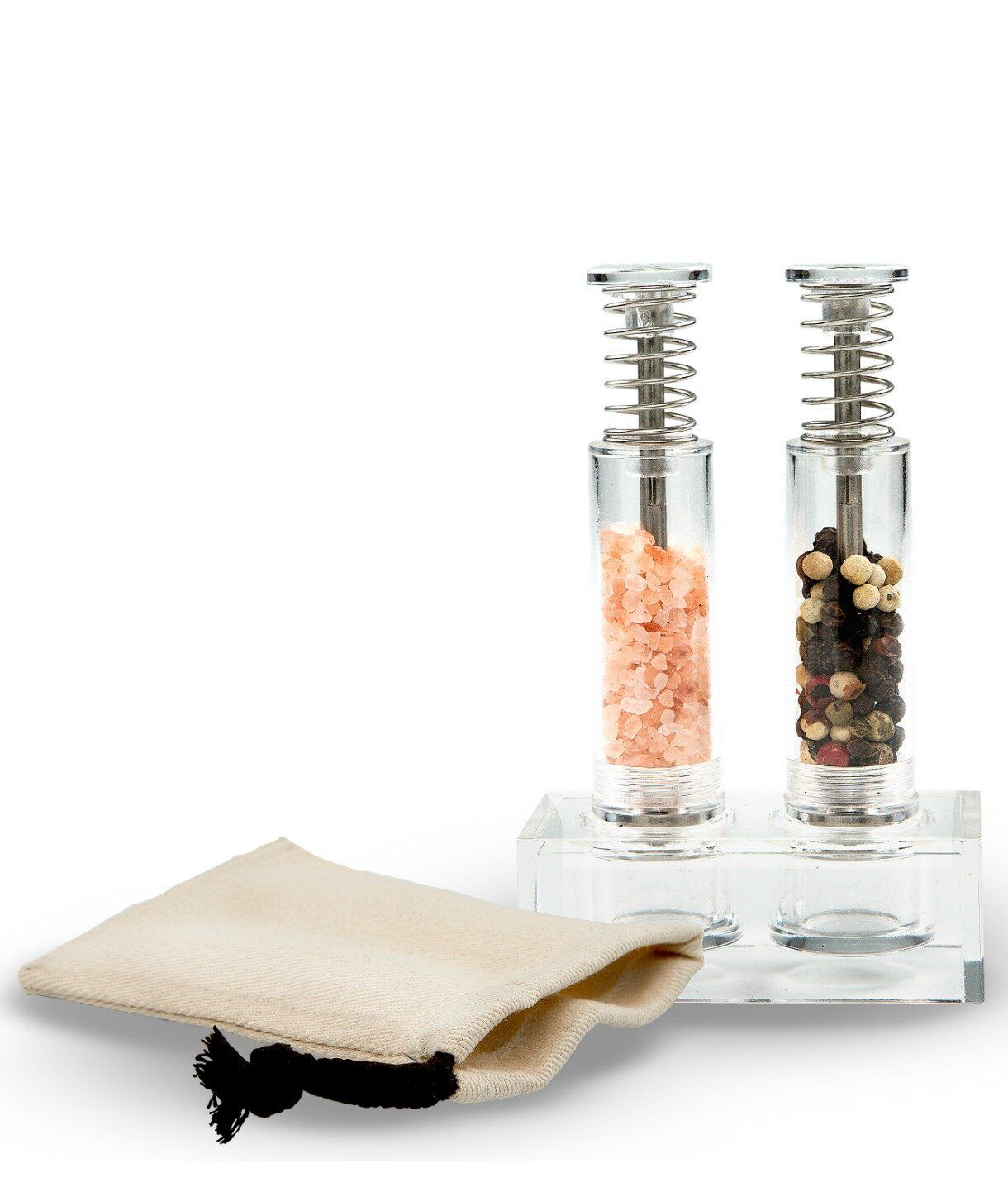 Grind Gourmet Travel Salt And Pepper Grinder Set