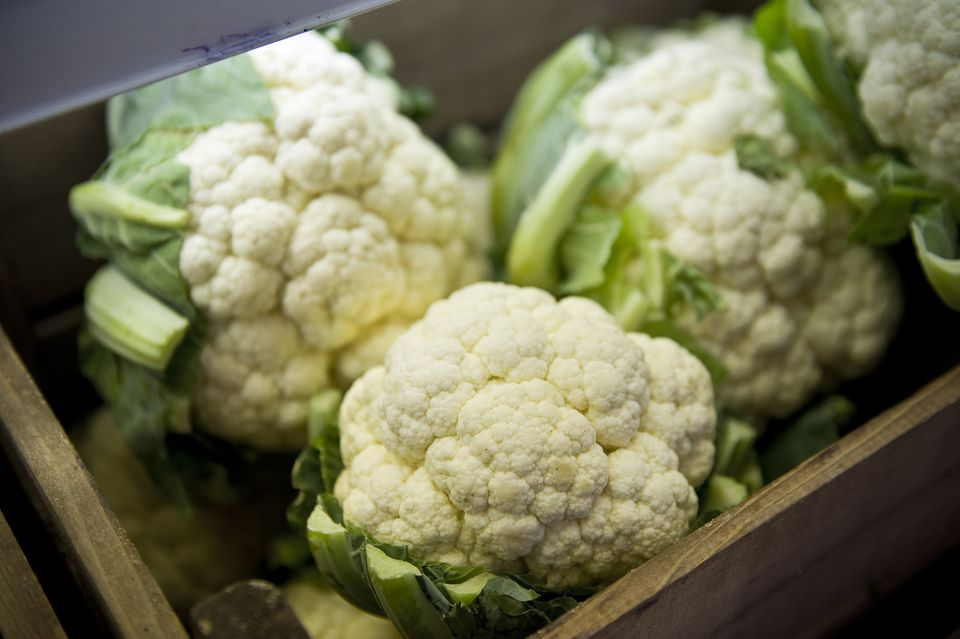 Box of cauliflowers
