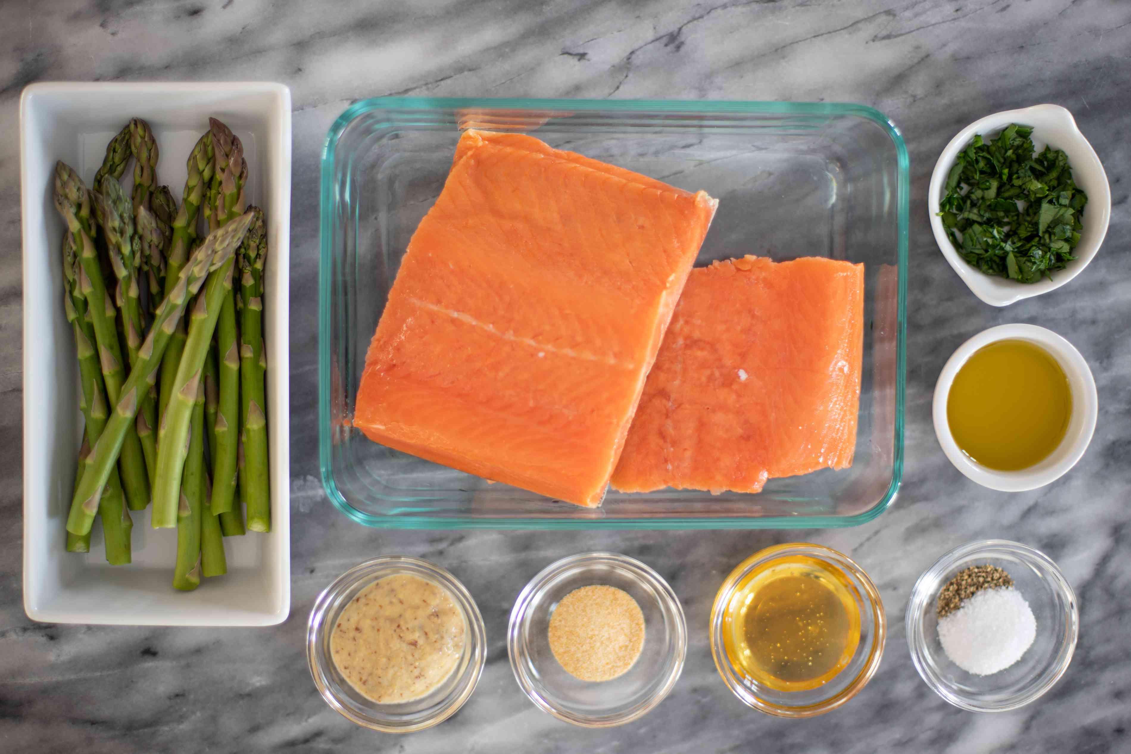 ingredients for air fryer salmon