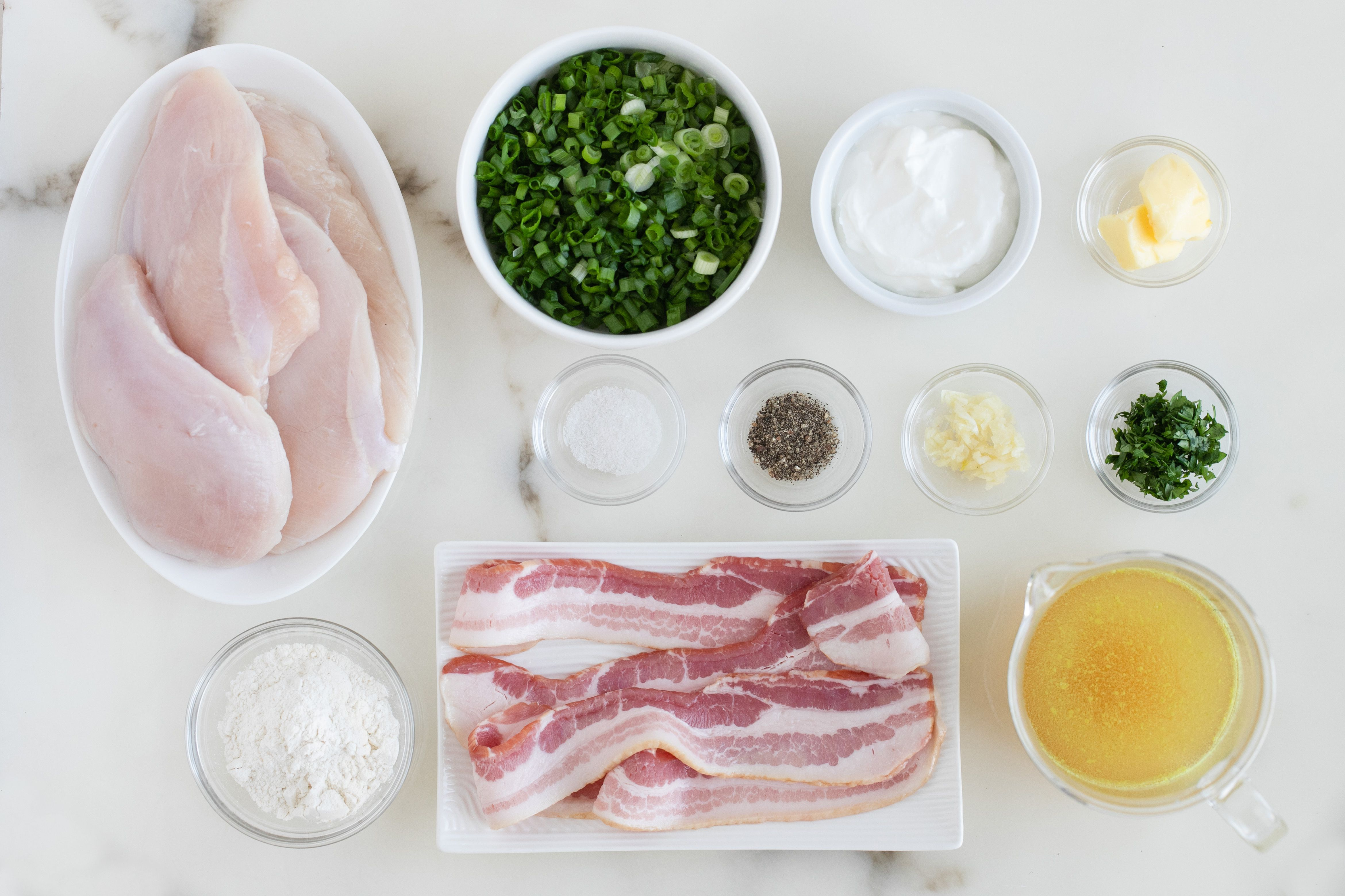 Chicken and bacon recipe ingredients