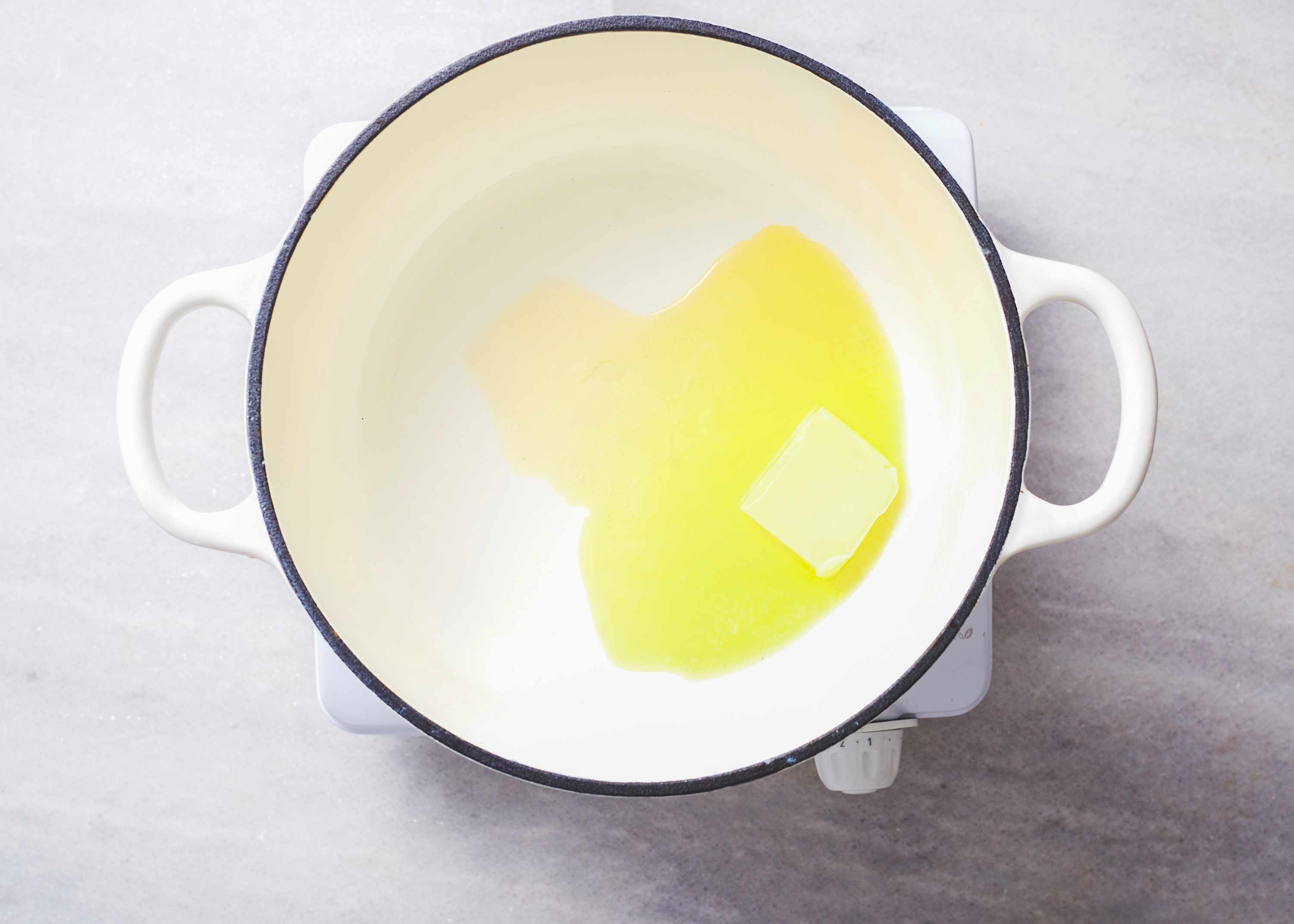 pot with butter