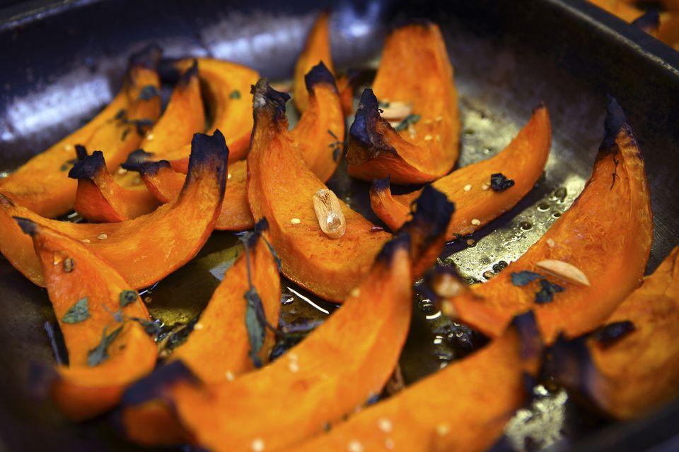Calabaza picante asada con sambal