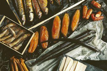 Assorted smoked fish