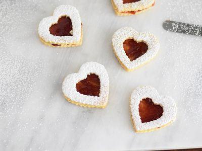 Austrian Linzer Cookie Helle Linzer Plaetzchen Recipe