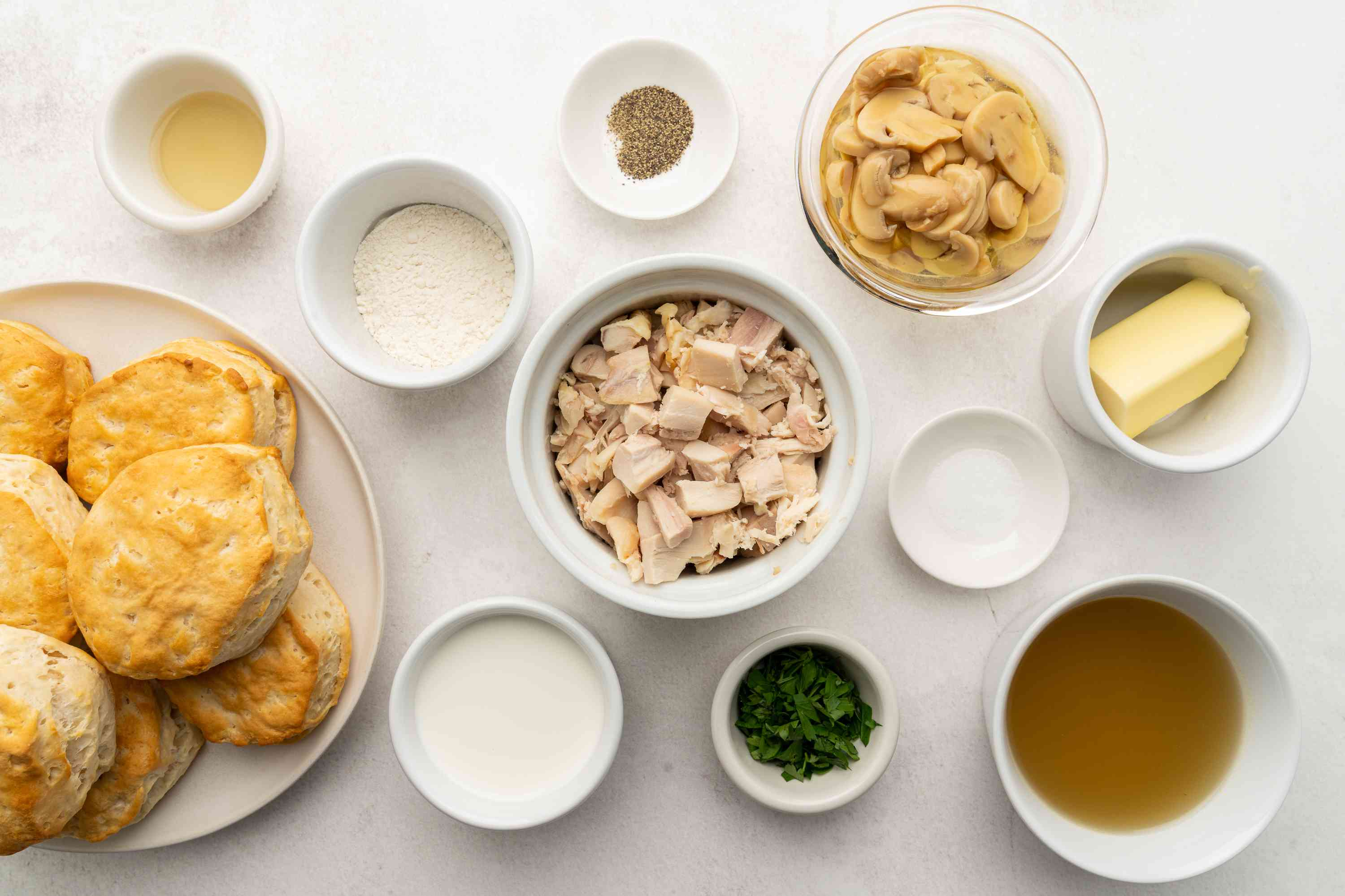 20-Minute Creamed Chicken With Mushrooms ingredients