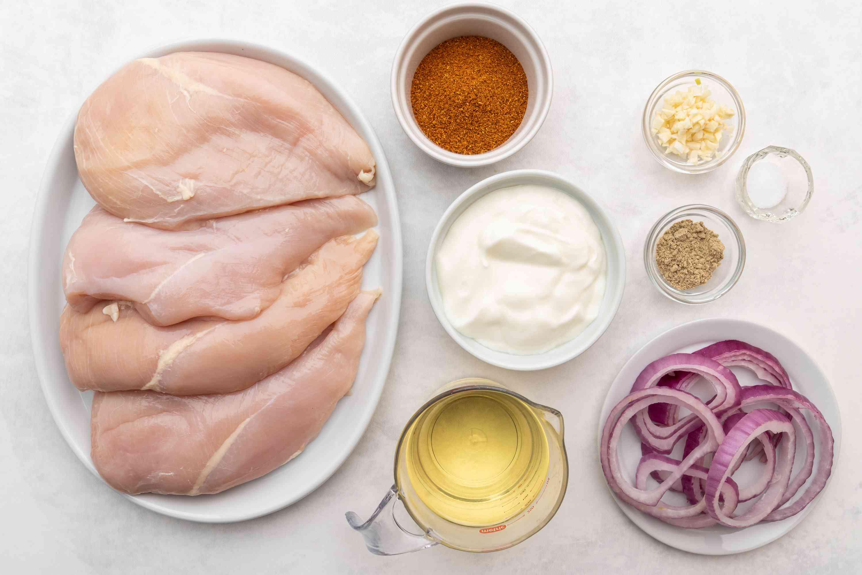 Grilled Tandoori Chicken ingredients