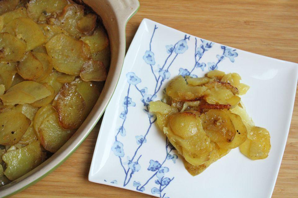 Kosher curry potato gratin