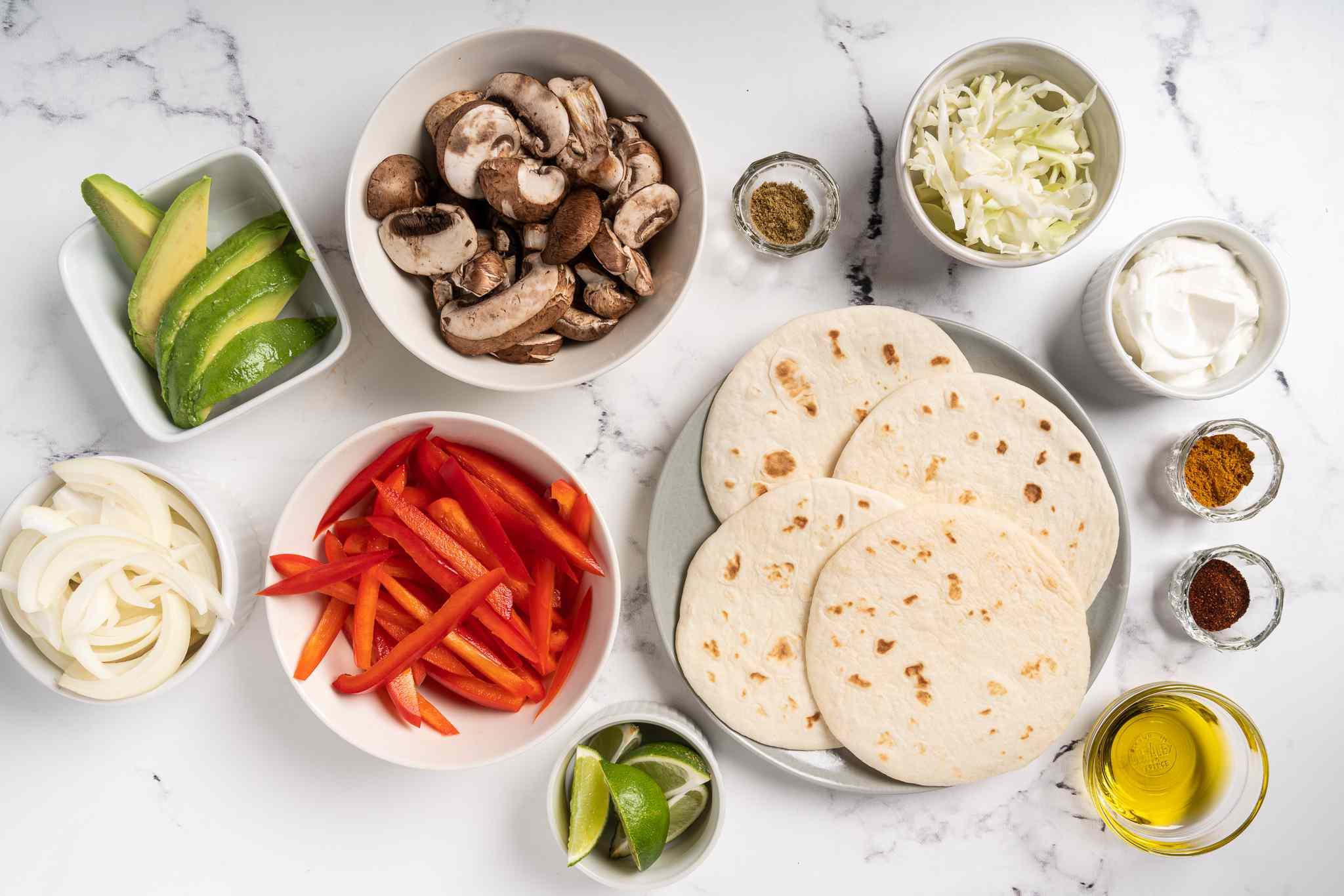 Vegetarian Mushroom Tacos ingredients