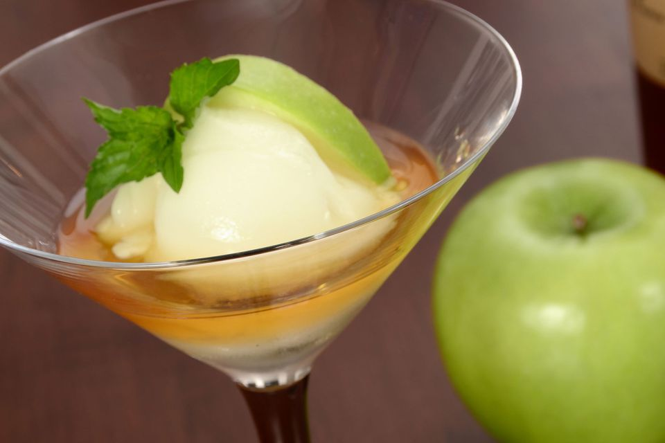 Apple Calvados sorbet