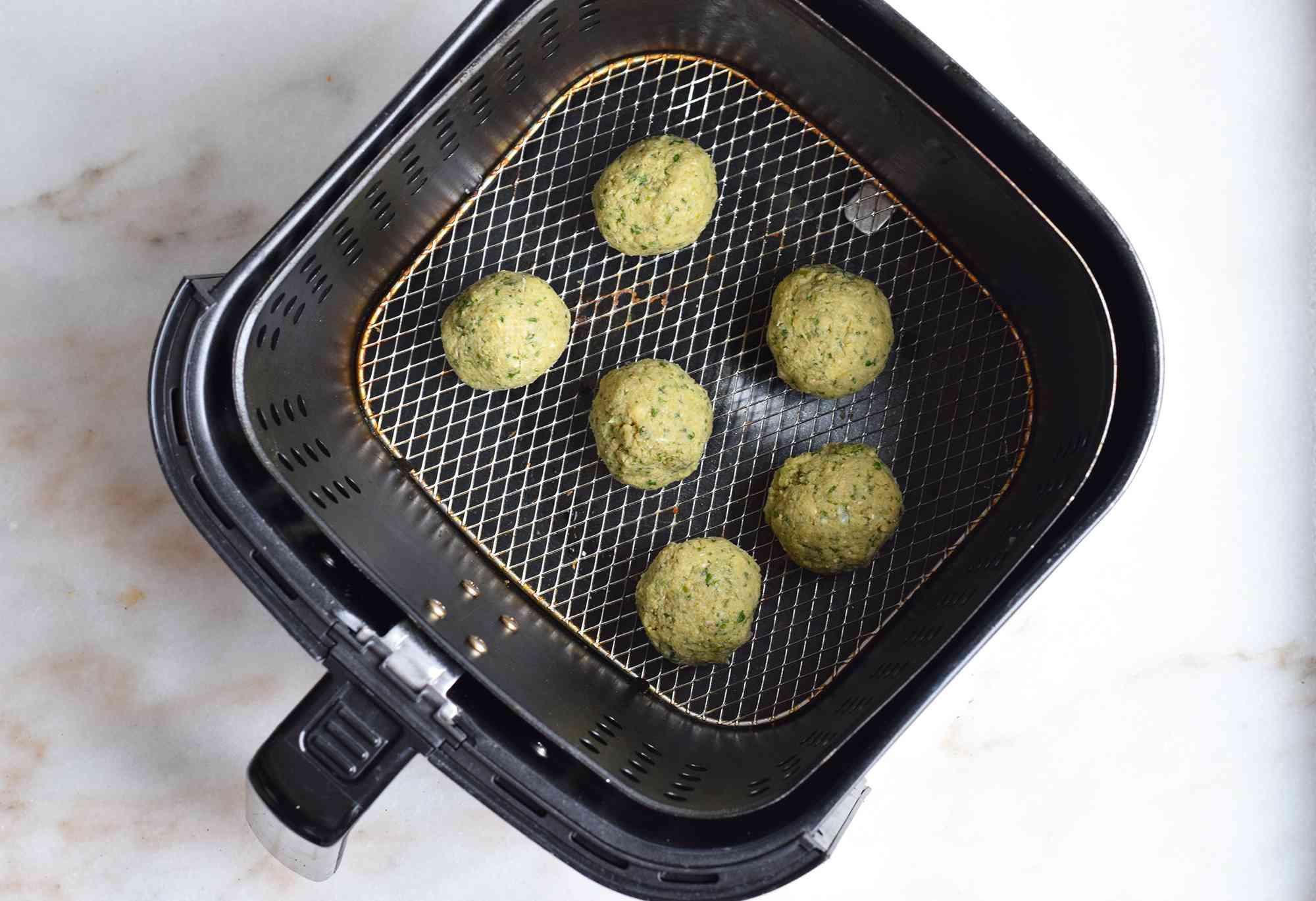 falafel balls in an air fryer