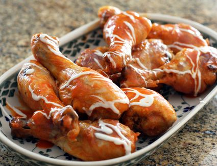 Baked Chicken Drumsticks, Buffalo-Style