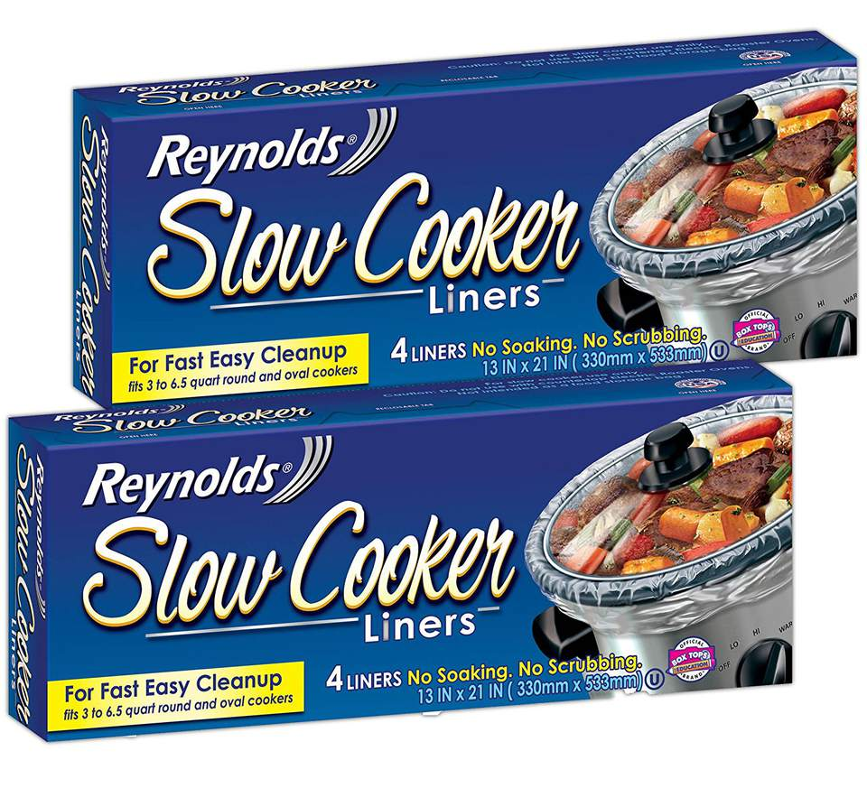 Two boxes of slow cooker liners