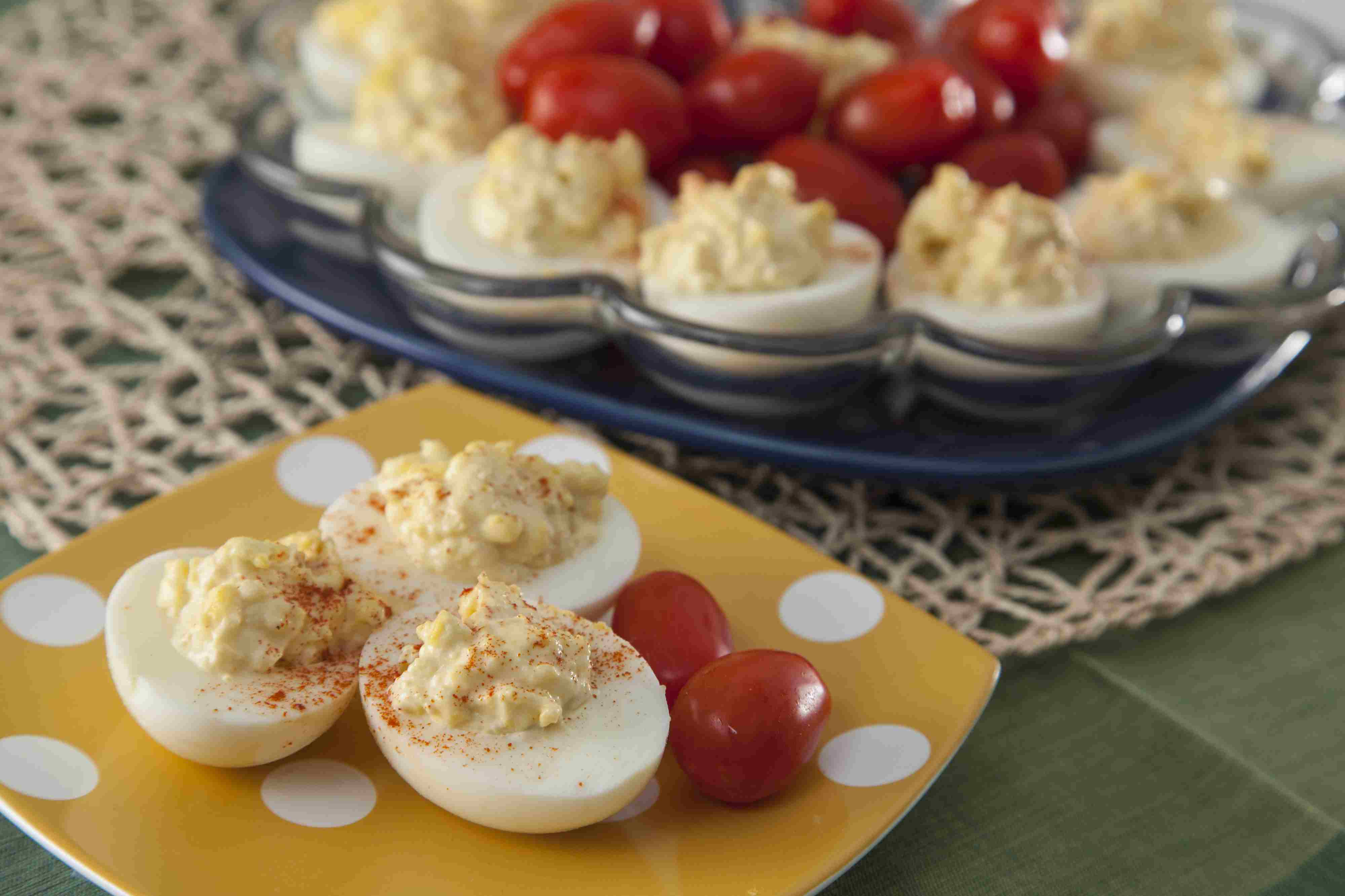 deviled eggs with cream cheese