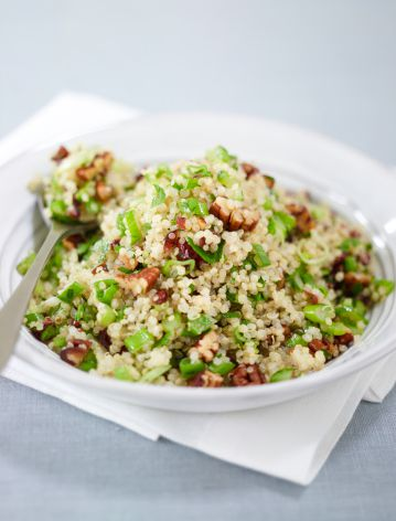 Quinoa salad with fresh herbs and pecans