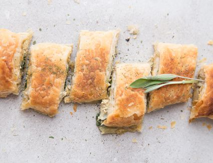 Spinach and mushroom strudel recipe