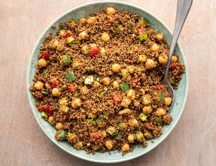 Vegan Couscous Salad With Chickpeas