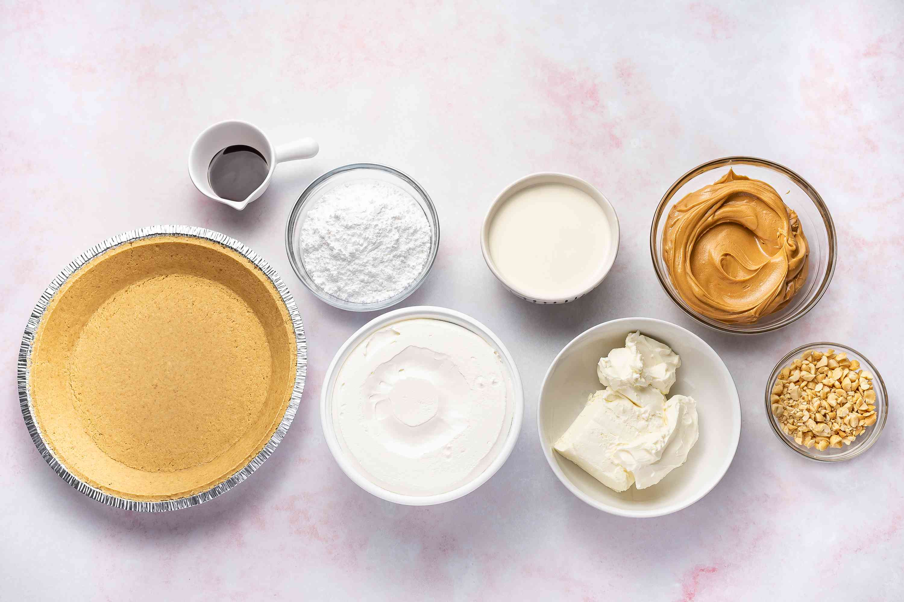 No-Bake Peanut Butter Pie With Cream Cheese Filling ingredients