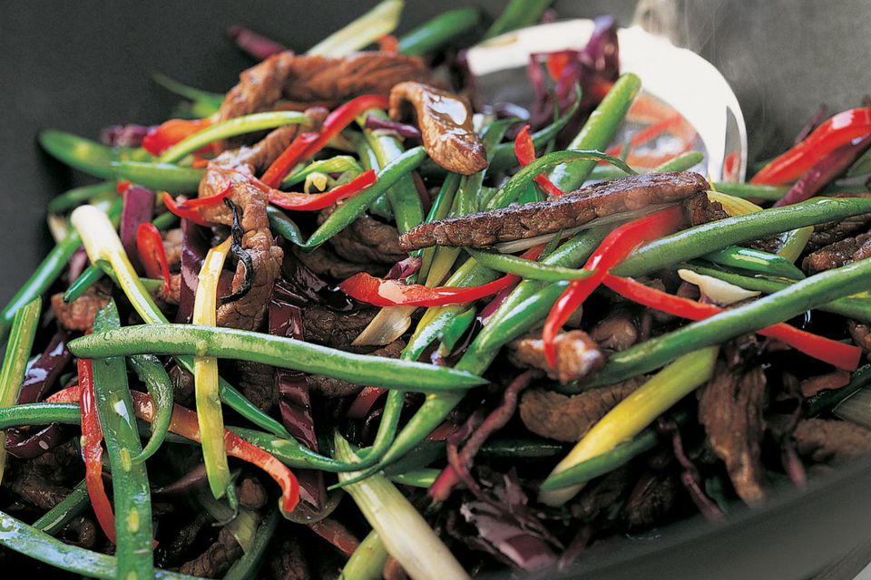 Chinese beef with green beans