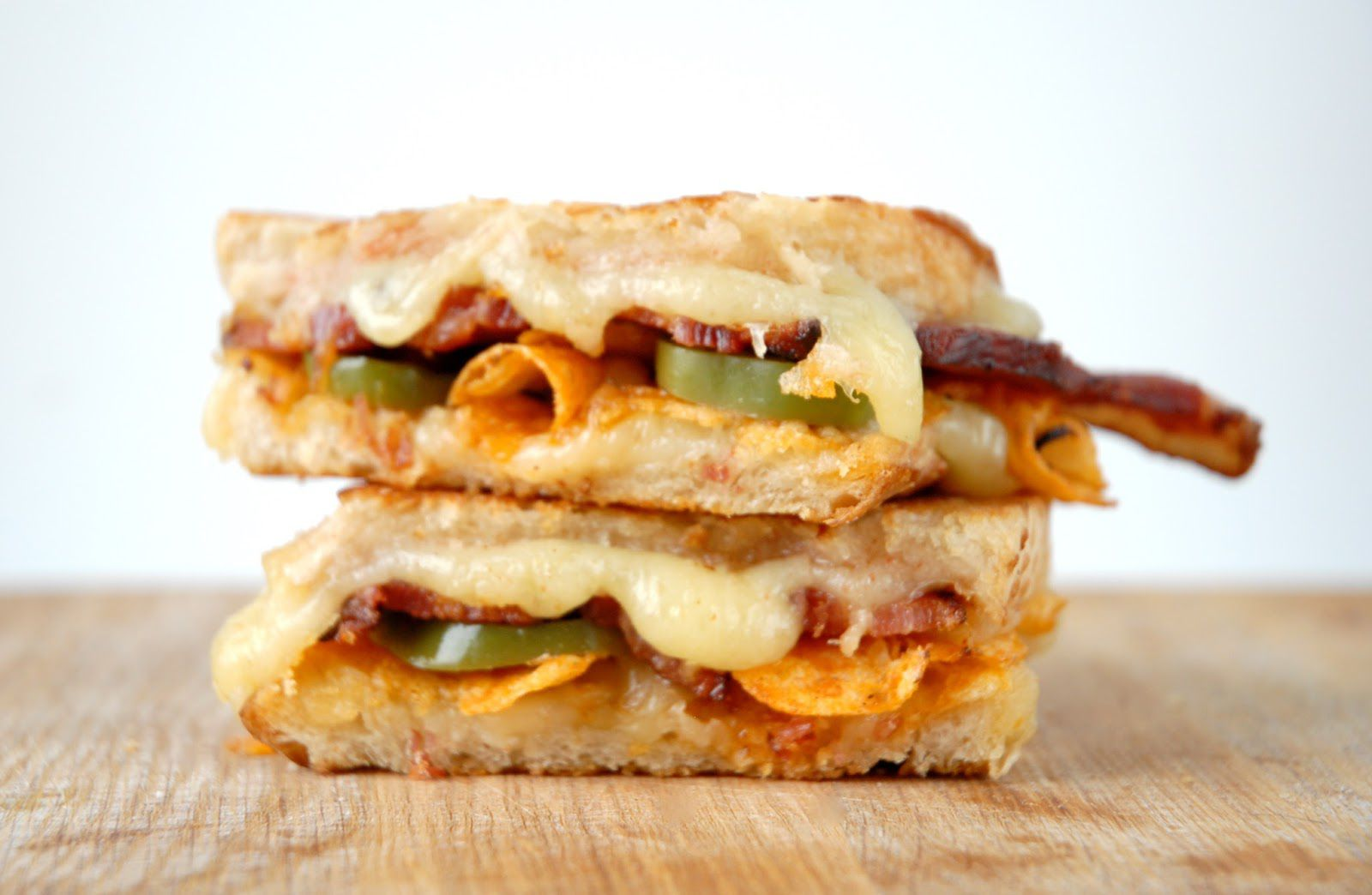 Tomato Jam, Bacon, Pickled Jalapenos + Potato Chip Grilled Cheese