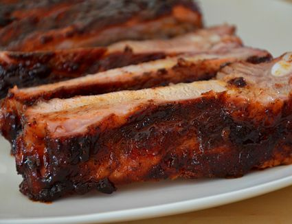 Candied Spare Ribs on Grill