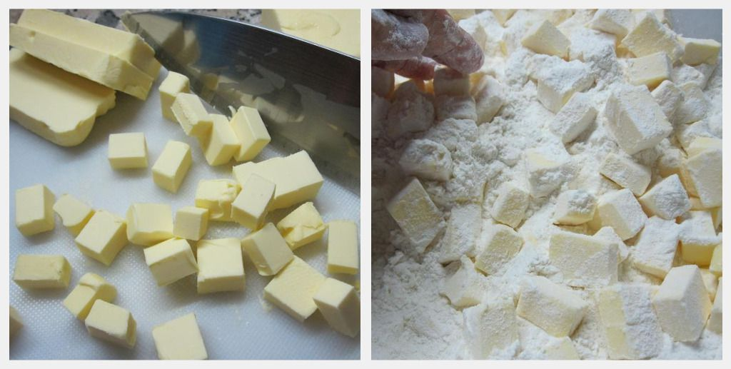 Combine the Cold Butter and Flour