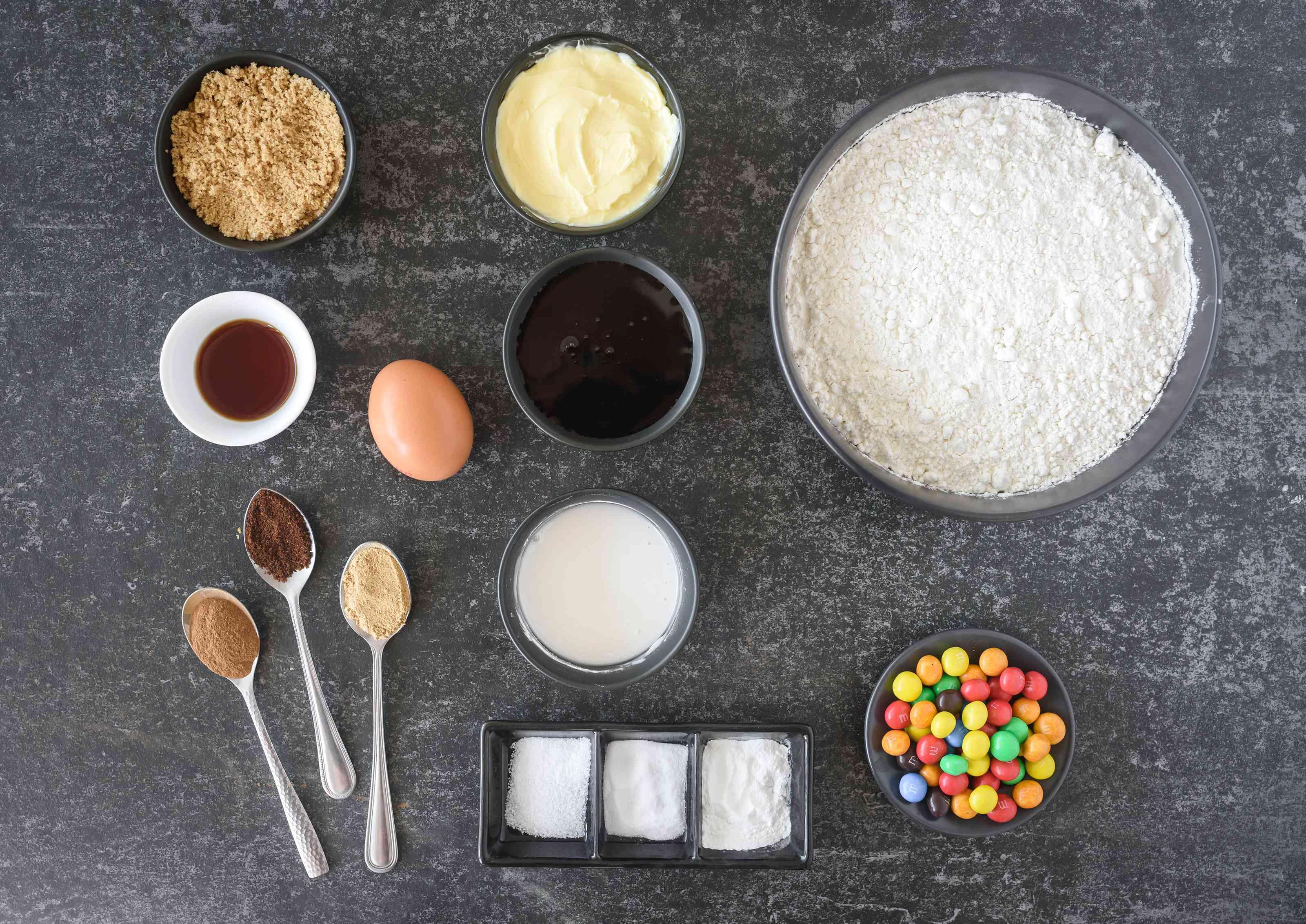 Ingredients for gingerbread cookies