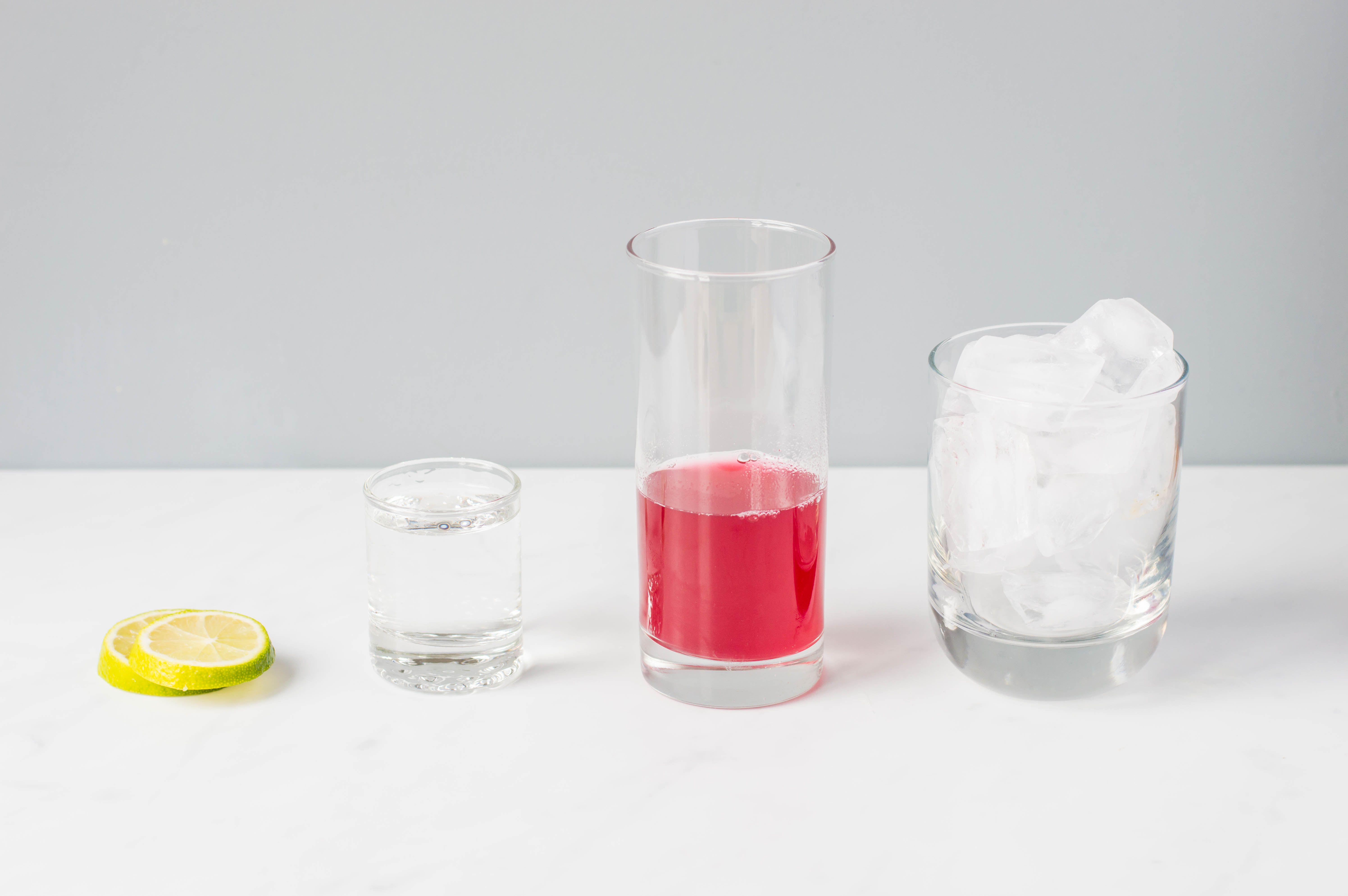 Ingredients for Frog in a Blender cocktail
