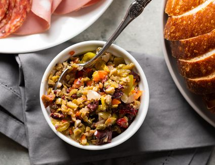 The Best Olive Salad for a Muffuletta Sandwich