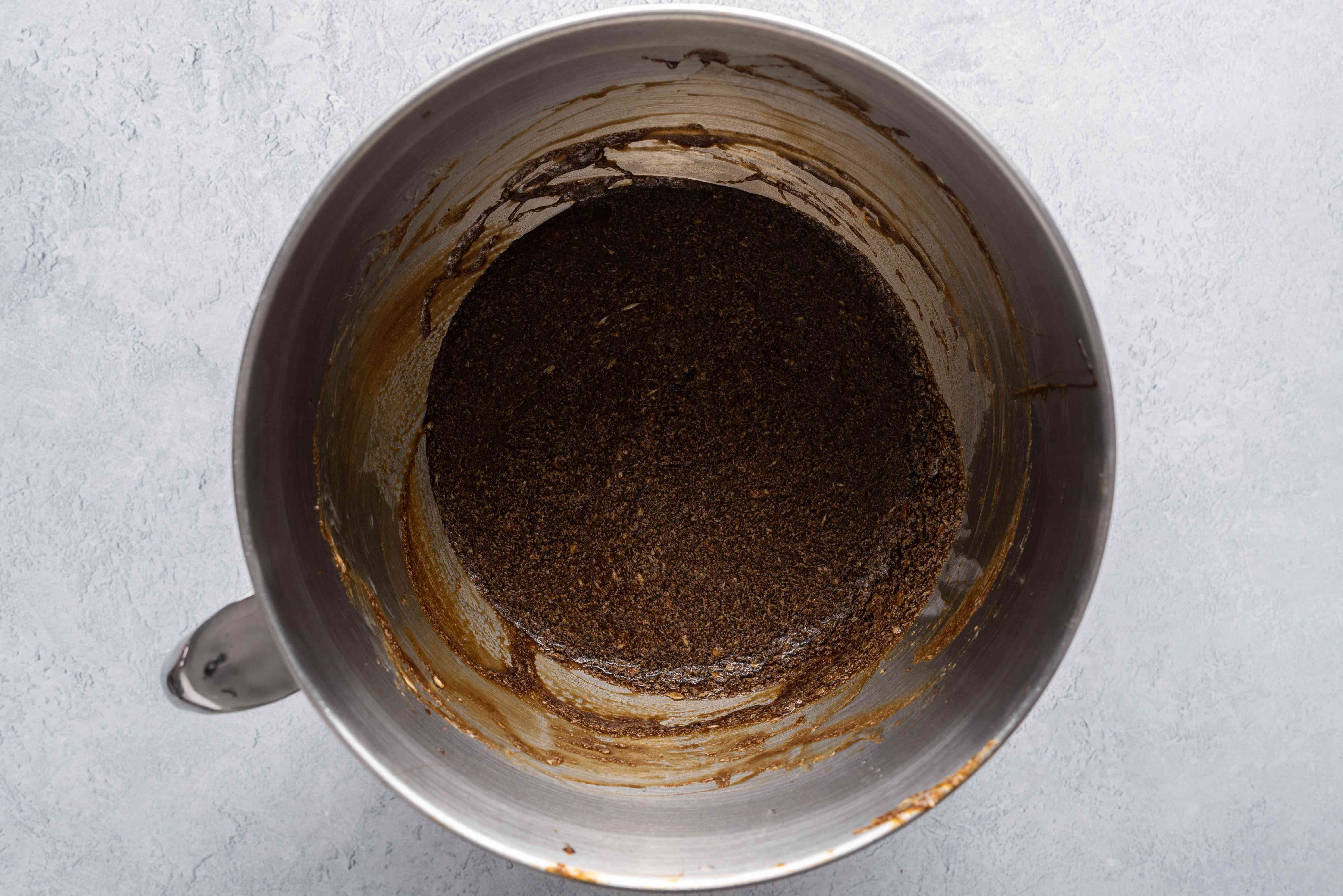 Add 2 eggs and 1 cup of molasses to the butter