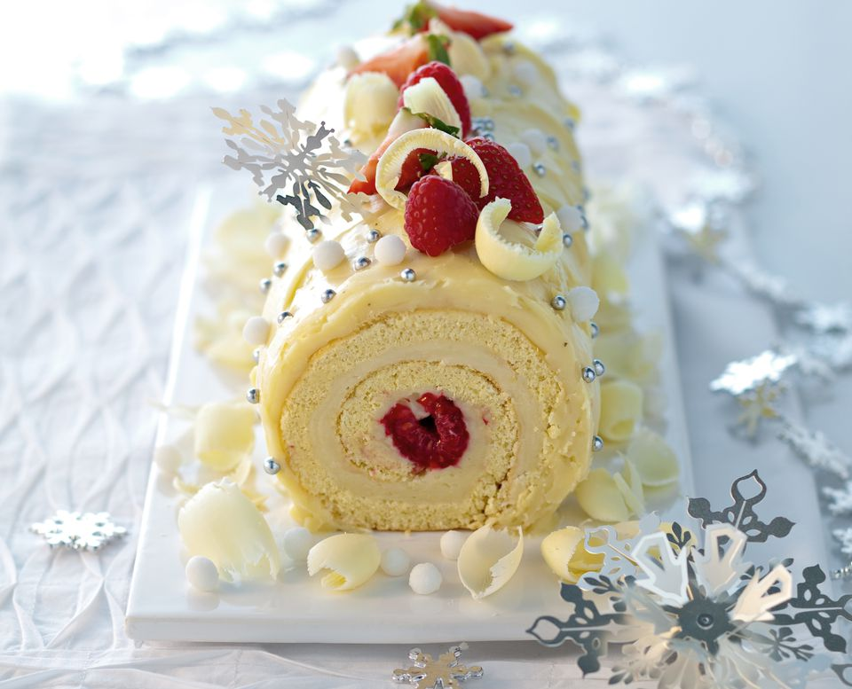 White Chocolate Yule Log