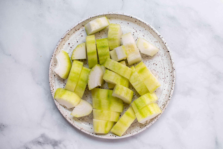 cut up Chinese winter melon