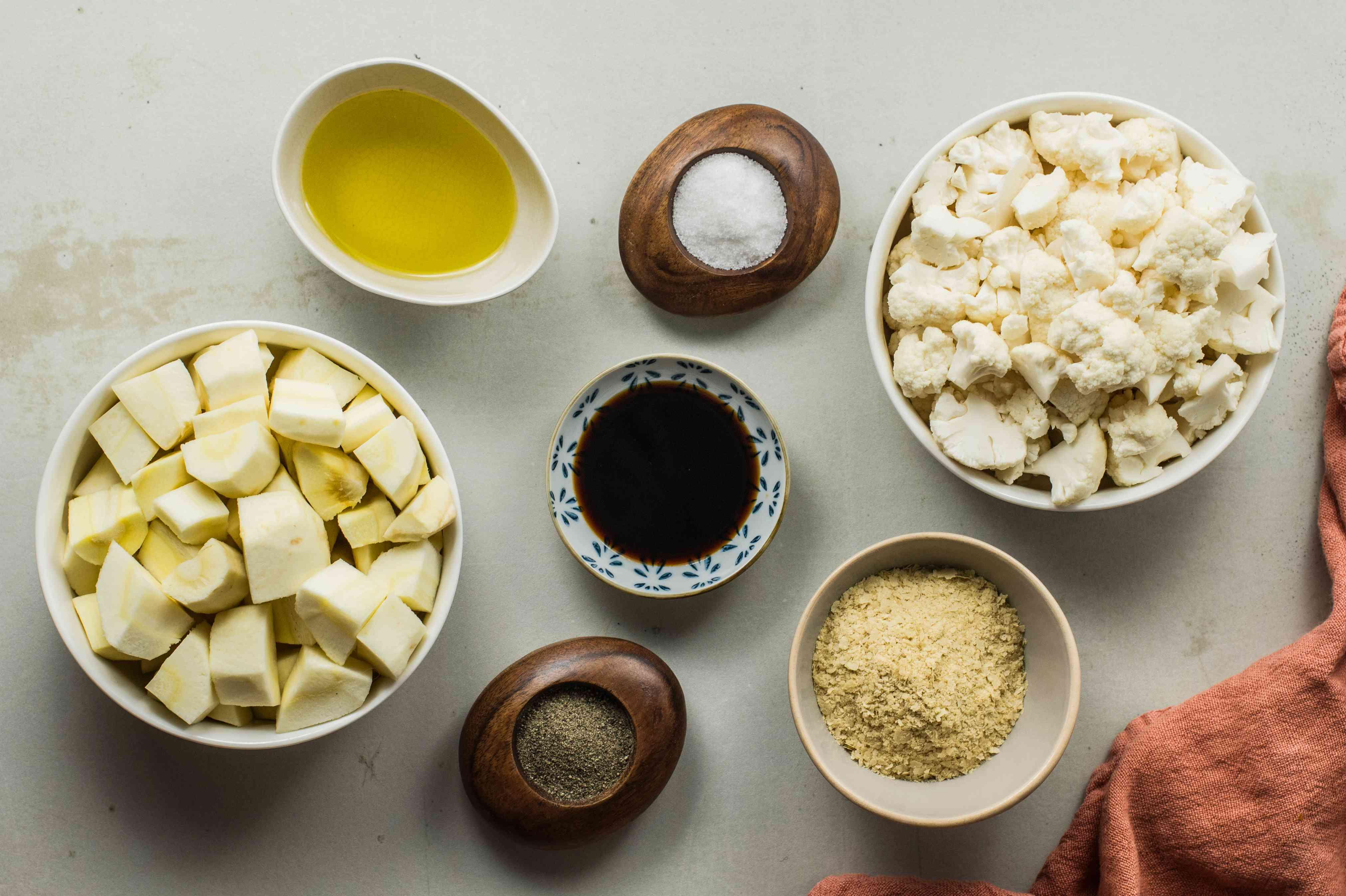Ingredients for Cauliflower mashed potatoes