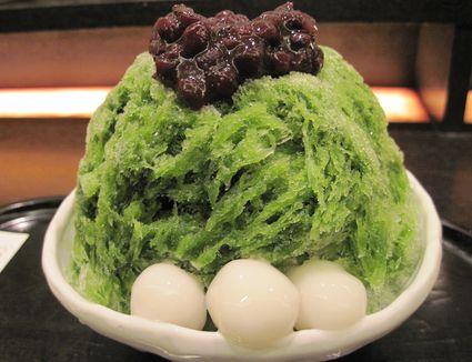 Japanese dessert Uji-Kintoki