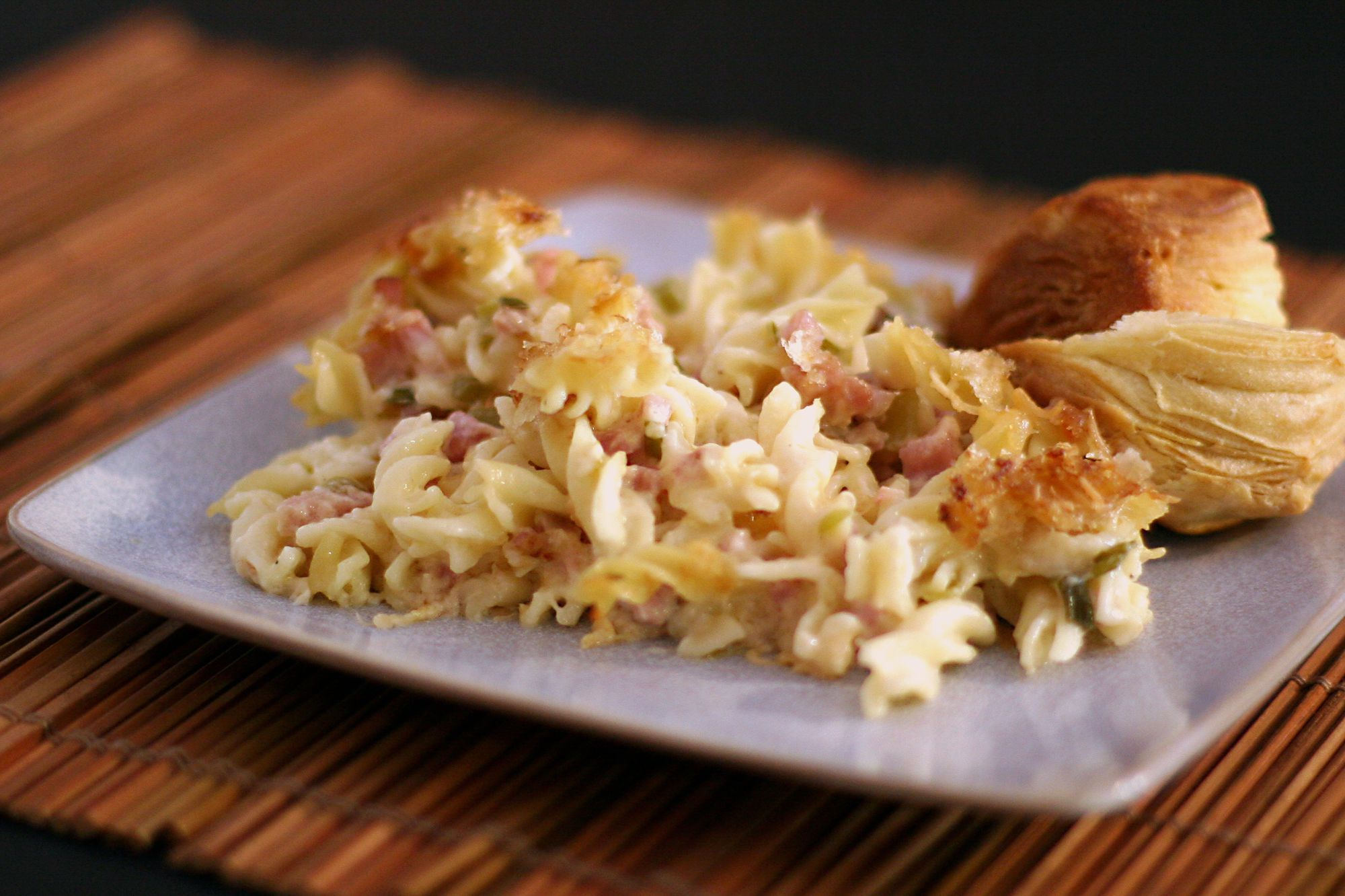 How to Make Ham, Swiss, and Pasta Casserole