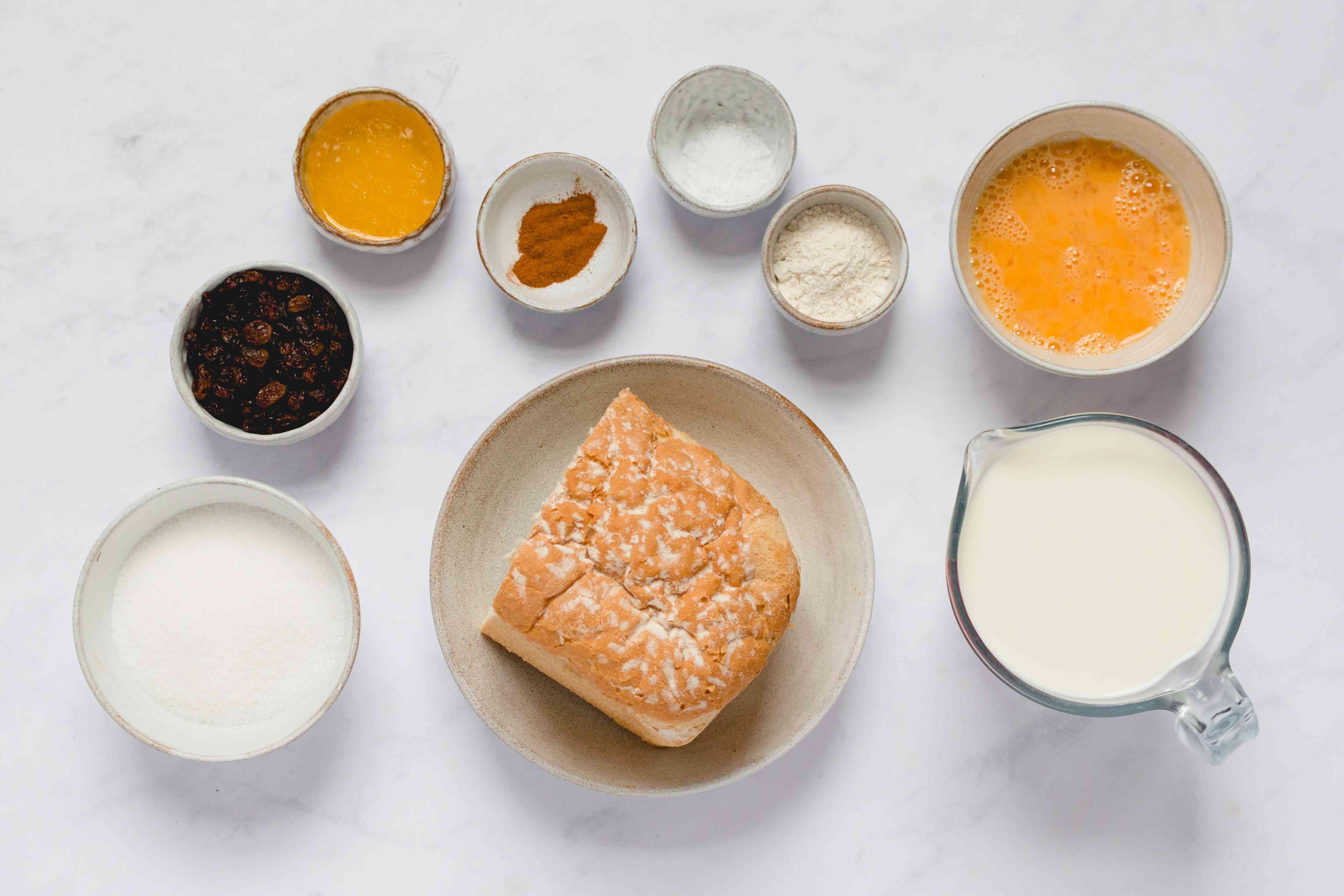 Caribbean Bread Pudding (Pudín de Pan) ingredients