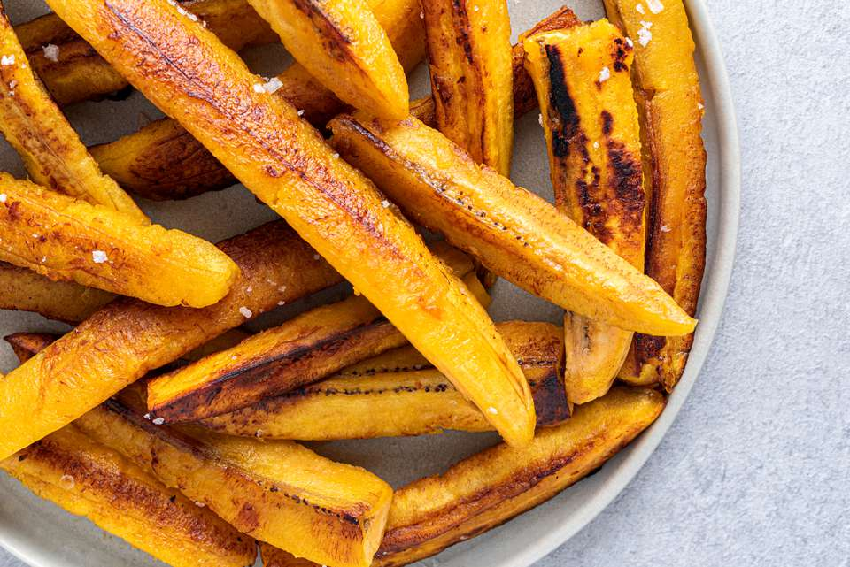 Fried Ripe Plantain Strips