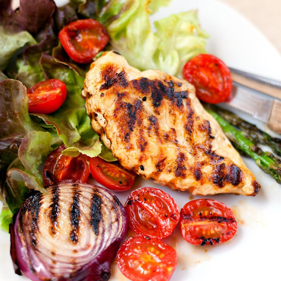 Grilled Citrus and Yogurt Marinated Chicken Breasts