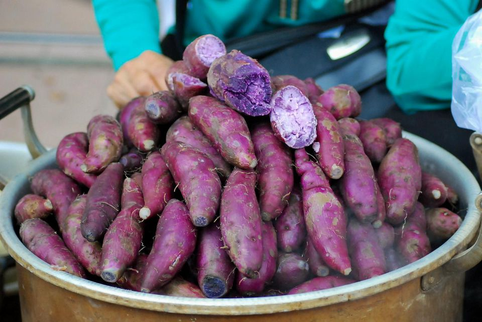 Purple sweet potatoes