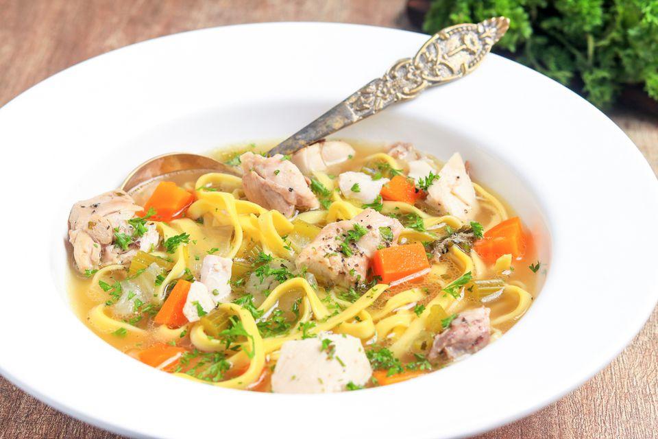 Crockpot chicken noodle soup.