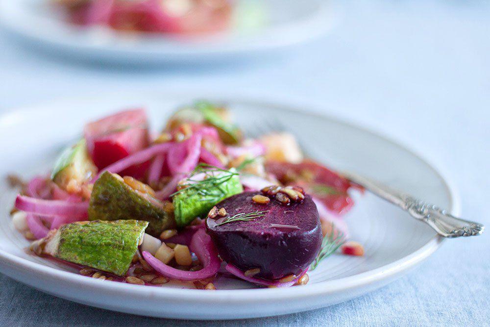 Beet + Freekeh Salad
